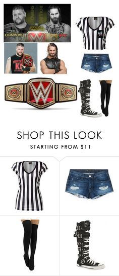 """""""Special Guest Ref. For Kevin Owens vs. Seth Rollins"""" by queenerykah18 ❤ liked on Polyvore featuring 3x1, Converse and WWE"""
