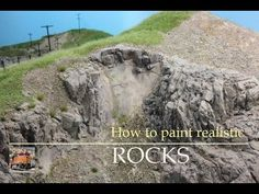 How to paint realistic Rocks for your HO Model Railroad Layout - Tutorial - Part 2 Ho Model Trains, Ho Trains, Train Ho, How To Make Rocks, Model Training, Trains For Sale, Chateau Medieval, Model Train Layouts, Ho Scale Train Layout