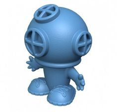 Blue Diver will be the start of the show (and help verbal skills develop) when kids create underwater adventures galore. Made from natural rubber, this fun character bubbles through his helmet, just a real, old-fashioned diver, when submerged and then drains easily after playtime in the bath, at the beach or in the pool!