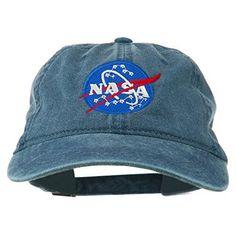 eee687de168e0 NASA Insignia Embroidered Pigment Dyed Cap - Stone OSFM at Amazon Men s  Clothing store
