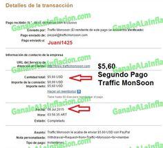 TrafficMonSoon | Segundo Pago $5,60 -  08-07-2015