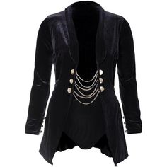 Plus Size 2 Piece Velvet Blazer and Bottoms Set, Black (€59) ❤ liked on Polyvore featuring outerwear, jackets, blazers, plus size jackets, high waisted two piece, women's plus size jackets, long sleeve jacket and plus size velvet blazer