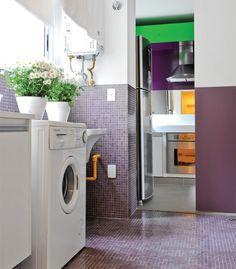 A lavanderia ou área de serviço pode até não ser frequentada pelas visitas, mas precisa estar sempre em ordem e bonita.