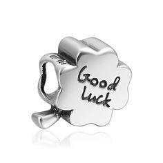 Good Luck Leaf Clover Charm 925 Sterling Silver Pandora Compatible