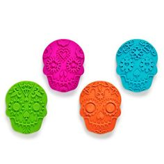 Sweet Spirits - Cookie Stamps (to make Day of the Dead sugar skull cookies! Alphabet Cookie Cutters, Alphabet Cookies, Cookie Cutter Set, Cookie Dough, Halloween Cookie Cutters, Christmas Cookie Cutters, Halloween Cookies, Halloween Party, Haunted Halloween