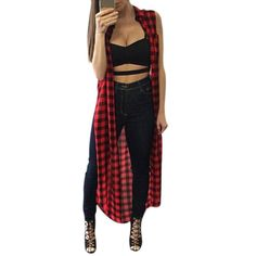 >> Click to Buy << High Quality 2017 New Women's Tops Female Street Style Plaid Long Shirt Holiday Summer Sleeveless #Affiliate