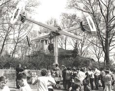 Kennywood Park's Loop-O-Plane ride, which was removed in 1950 in favor of a more modern version of the ride. Several rides have come and gone from this location in the park.