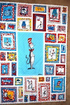 Cat in the Hat Quilt by Elise of Lovelea Designs