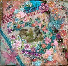 crazy quilt patterns free printable | Crazy Quilt Cat Purse