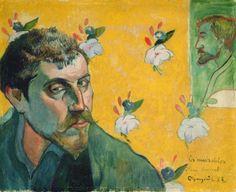 Eugène Henri Paul Gauguin - Self Portrait with portrait of Émile Bernard, 1888  (French artist, 1868-1941)
