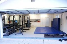 Gym-Garage -- Dream gym! Way better than wasting time waiting for equipment hogs that just sit and talk on machines at the gym!!!