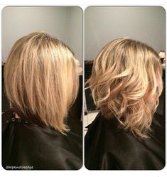 Angled bob straight and curly
