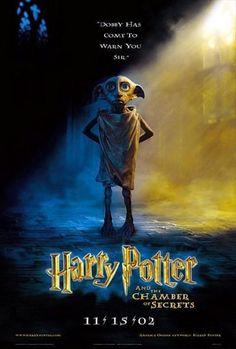 Original Harry Potter Chamber of Secrets Dobby Theater Poster Harry Potter 2, Harry Potter Poster, Mundo Harry Potter, 2 Movie, Love Movie, Perfect Movie, Movie Props, Daniel Radcliffe, Plus Tv