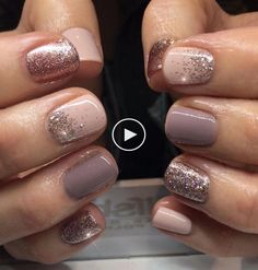 + Ideas for Nude Nails Designs - Gorgeously Chic Hands best nude nail polish, pale pink and light, milky pastel purple manicure, decorated with rose gold glitter, short square nails Taupe Nails, Purple Manicure, Neutral Nails, Pink Nails, Gold Nails, Manicure Colors, Pastel Nails, Pedicure Designs, Manicure And Pedicure