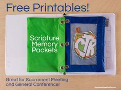 Free Printable! ABC Scripture Memory Packets