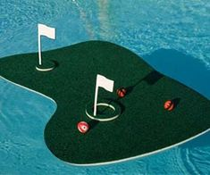 Let us tell you something. Golf is an expensive sport for wealthy individuals. This is a very unique miniature floating golf green that floats on your swimming pool. With a floating golf course gift like this, it will make an unforgettable pool party. This is the best gift for a father who has a swimming pool at home.