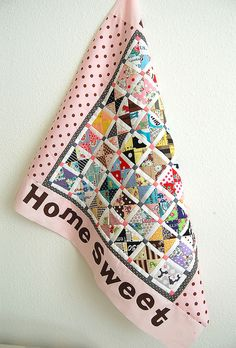 Pink Penguin: Tutorial: Scrappy Hour Glass Blocks