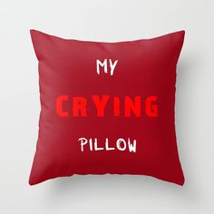 My Crying Pillow 6 sizes home decor by BacktoBasicsPillows on Etsy