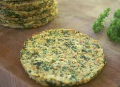 Paleo Cauliflower and Spinach Breakfast Patty - top with some avocado or chunky salsa.