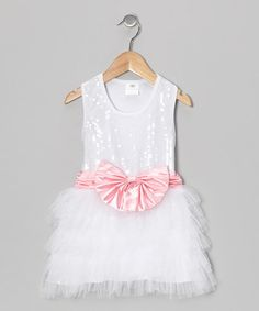 Silver Sequin Bow Tutu Dress - Toddler & Girls |
