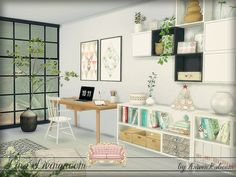 Modern Scandinavian livingroom for your simmies.  Found in TSR Category 'Sims 4 Living Room Sets'