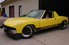 Yellow Porsche 914 By someguyinontario