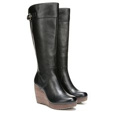 Wide Calf Wedge Boot by Famous Footwear Wedge Boots, High Heel Boots, Knee Boots, Bootie Boots, High Heels, Minimalist Shoes, Wide Calf Boots, Jelly Shoes, Platform Boots