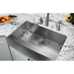 """Kraus 30"""" X 18"""" Undermount Kitchen Sink & Reviews  Wayfair Gorgeous Undermount Kitchen Sink Design Ideas"""
