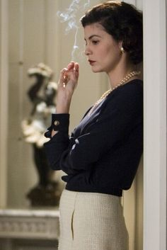 """nature-and-culture: """"Coco Before Chanel (French: Coco avant Chanel) is a 2009 biographical drama film directed and co-written by Anne Fontaine. The film stars Audrey Tautou and details the early life of French fashion designer Coco Chanel. Audrey Tautou, Jean Claude Pascal, Estilo Coco Chanel, Mademoiselle Coco, Jean Gabin, Winter Typ, Looks Style, My Style, Movies"""