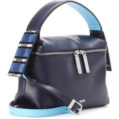 Kenzo Leather Shoulder Bag (525 CAD) ❤ liked on Polyvore featuring bags, handbags, shoulder bags, genuine leather shoulder bag, leather shoulder bag, navy purse, leather shoulder handbags and navy shoulder bag