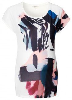 Tehotenské tričko s krátkym rukávom  NOPPIES - krémová