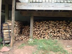Woodpile from the side.