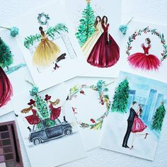 """183 Likes, 12 Comments - Sneha (@sneha.illustradentist) on Instagram: """"Christmas cards and various other items now available on my page at @cupick and @redbubble @zazzle…"""""""
