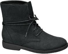 Nízke čižmy so šnurovaním značky Graceland vo farbe čierna - deichmann.com
