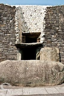 Newgrange Passage Tomb, Boyne Valley, County Meath, Ireland - a 5,000 year old Neolithic passage and chamber famous for the Winter Solstice illumination.