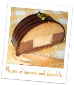 キャラメルとチョコレートのムースカット Mousse caramel chocolate