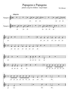 Papageno e Papagena #sheetmusic #musiced