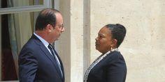 """France. Février 2016. Pour Christiane Taubira, François Hollande se prend pour François Mitterrand mais """" il lui manque un étage """"."""
