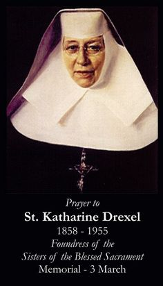 drexel catholic singles Katharine drexel's story is rich, overflowing and, quite frankly, mind- boggling her story goes far beyond the millions of dollars she invested in establishing and supporting 65 schools, churches and centers in 21 states through her religious order, the sisters of the blessed sacrament.