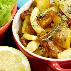 Sauté de seiche aux pommes de terre à l'ail et coriandre
