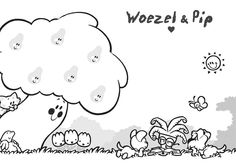 Woezel en Pip Good Company, Dogs And Puppies, Snoopy, Fictional Characters, Zentangle, Art, Drawing For Kids, Stamps, Art Background
