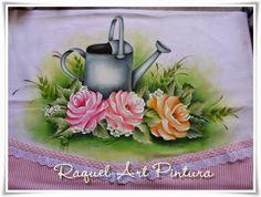 Raquel Art Pintura: PAP Regador e Rosas