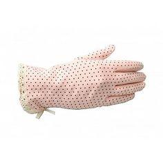 Collectif: Vintage Pink Polka Gloves