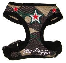 $22.95 - is much more comfortable for your fur-baby than a collar as it pulls on their chest & not on their neck. These harnesses are also great for helping to secure your pets safely to the safety strap in their carriers and car seats too.  Sizes XS-3XL at Sugar Chic Couture:  https://www.sugarchiccouture.com/ProductDetails.asp?ProductCode=SSBHV-026 #doglovers #shop #dogs #gifts #fashion #puppies #USA #camouflage #star #army #fatigue #camo