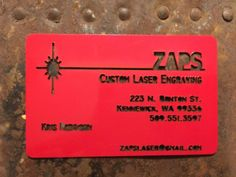 Hot of the...laser! Custom acrylic business cards! Super fast super affordable…