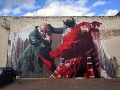 Mural by Conor Harrington in Walthamstow, London, via Street Art (@StreetArt_Graf) | Twitter