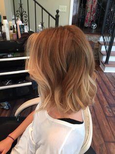 Short blonde sombre hair.