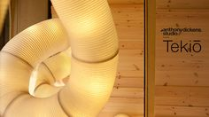 Tekiō by Anthony Dickens by Dezeen. London designer Anthony Dickens explains how Japanese paper lanterns were the inspiration for his modular lighting system which can snake around corners, curl in spirals and form interlinking loops.