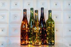 Recycled Wine Bottle Light von ClassyGarbage auf Etsy