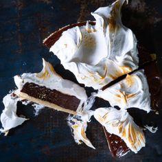 Chocolate meringue tart | Woolworths TASTE Chocolate Meringue, Chocolate Cream, Recipe Boards, Cooking Instructions, Cake Tins, Dessert Recipes, Desserts, Chocolate Recipes, Postres